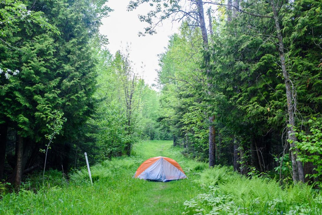 recommendation for a good secluded camping spot